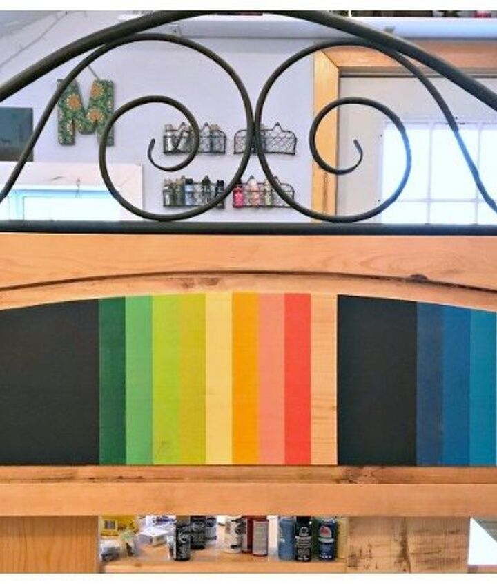 how to paint the mexican serape painted headboard