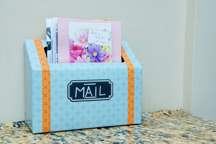 s 15 ways to recycle and create more storage at the same time, Turn a tissue box into an indoor mail station