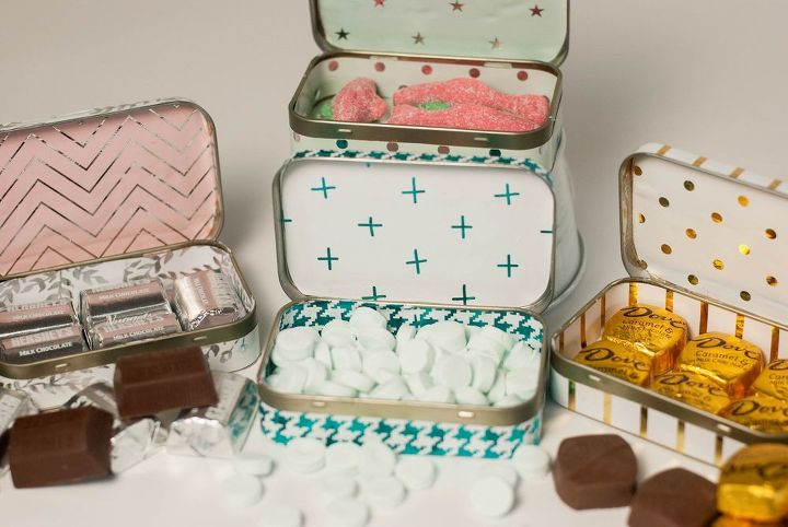 s 15 ways to recycle and create more storage at the same time, Use Altoid tins as darling gift tins