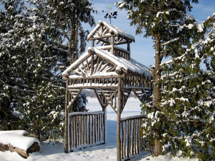 s 15 diy projects that will make you say wow, This rustic arbor built in 3 days