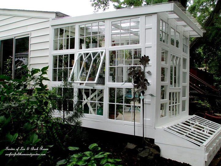 s 15 diy projects that will make you say wow, This greenhouse made from windows