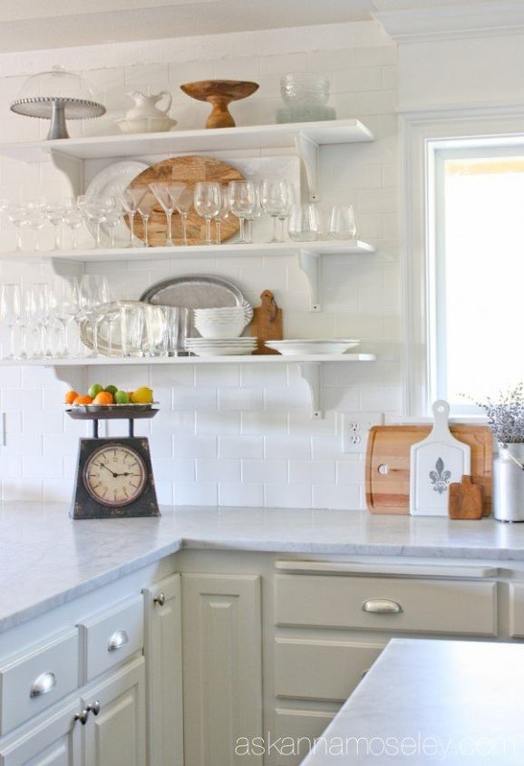 s make your kitchen beautiful with these inexpensive ideas, Subway Tile The Wall