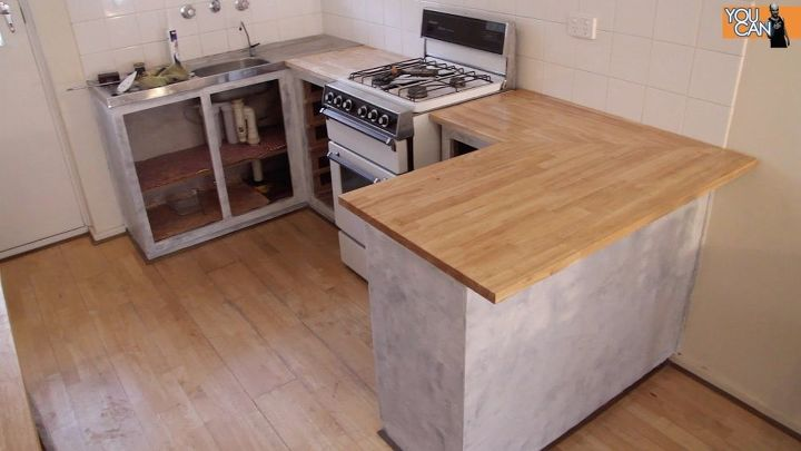 s make your kitchen beautiful with these inexpensive ideas, Install A Countertop Over The Old One