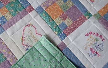 turn vintage dish towels into a family heirloom quilt