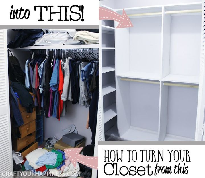 make your own closet shelves organizer