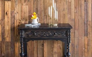 distressed black sideboard makeover
