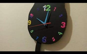 making a cardboard cat clock with a swinging tail