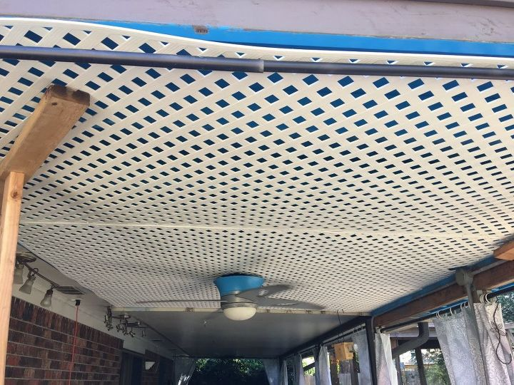 s copy one of these lovely lattice ideas for your home, Patio Ceiling Disguise