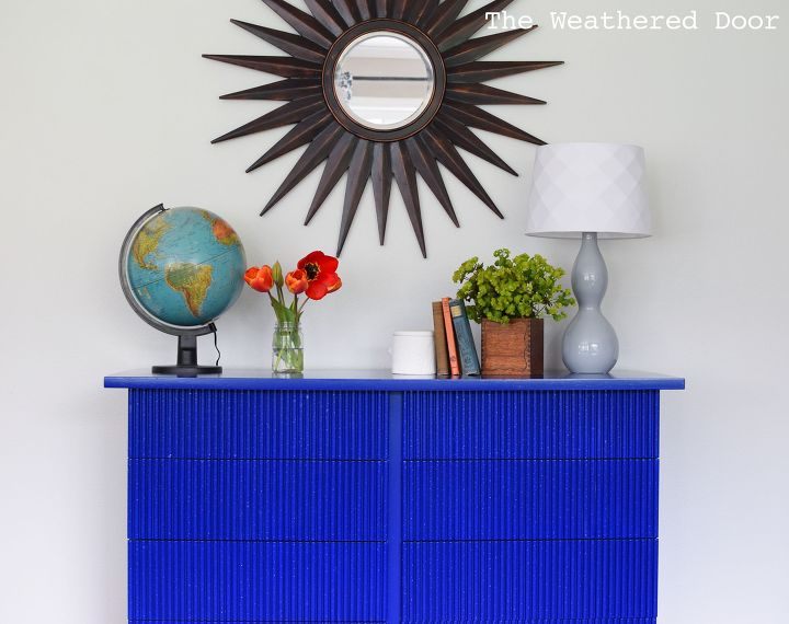 s 18 ideas to keep you from feeling blue, Bamboo Dresser Makeover