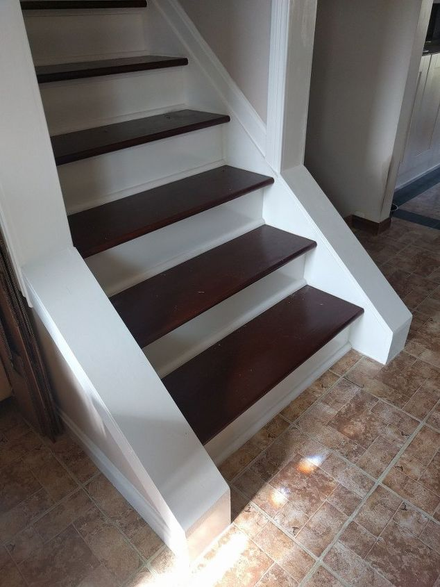 q how can i add hand rails on both sides of my interior steps