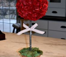 diy simple and sweet valentine s topiary