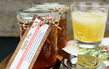Gift Idea for Him - Infused Bourbon With DIY Tag