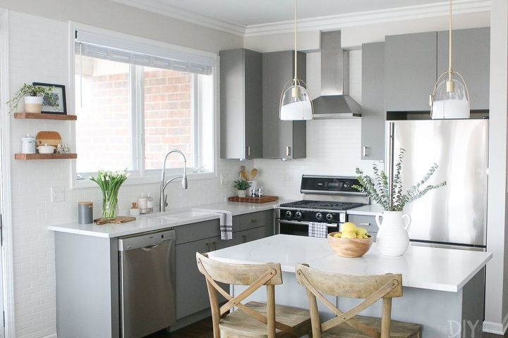 white bright kitchen makeover before after