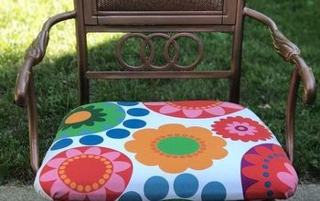 Colorful Outdoor Chair Makeover