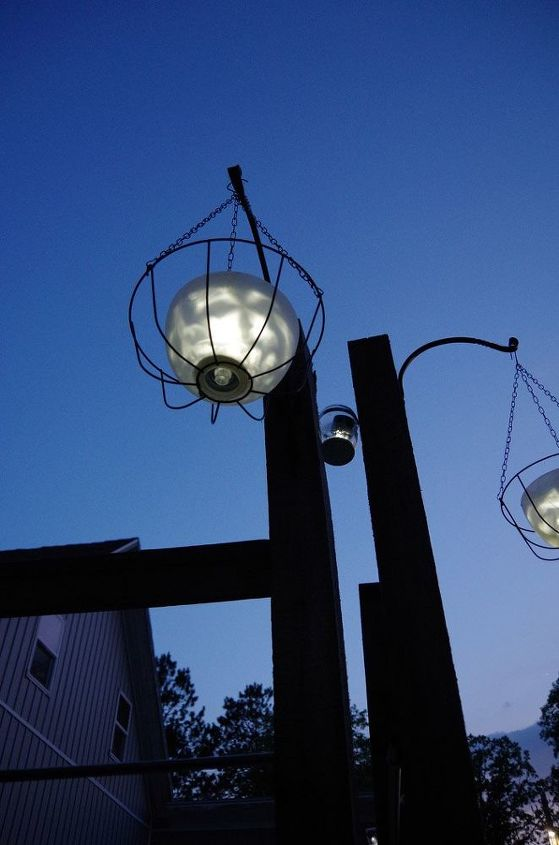 hanging solar light using glass bowl shades and dollar store items