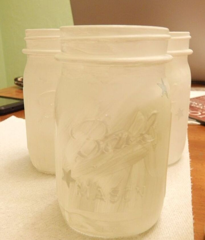 patriotic mason jar candle holders