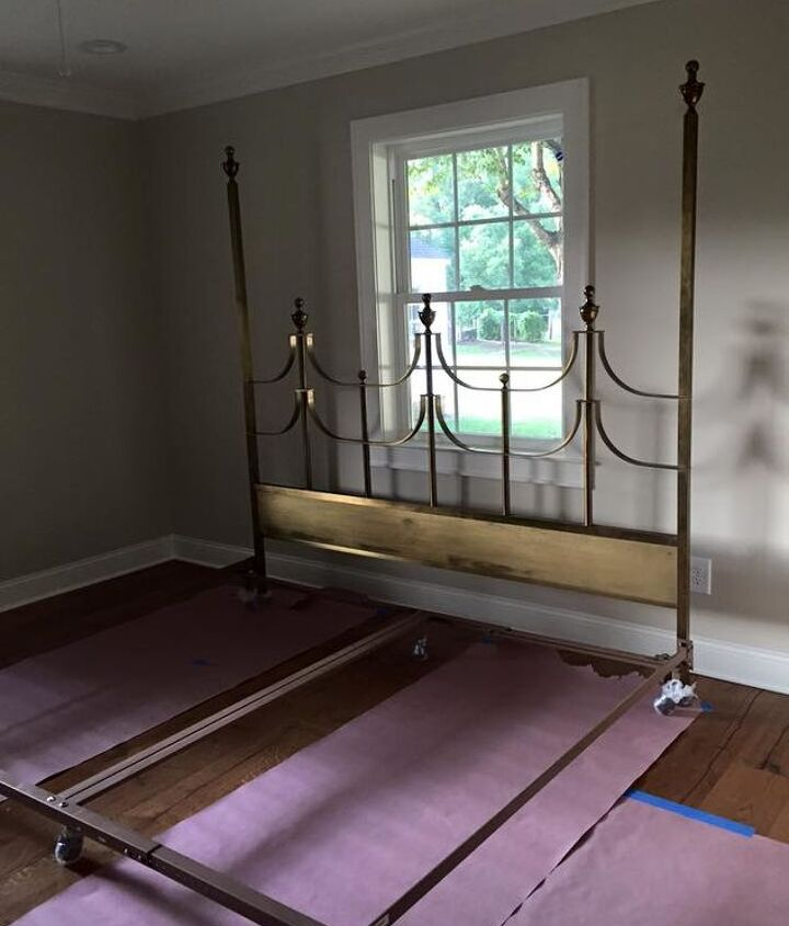 selecting and styling our hollywood regency bed frame