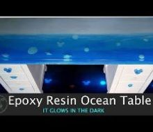 epoxy resin ocean table, Ocean Table Video Tutorial