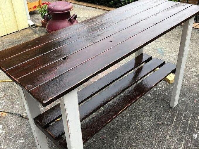 building a farmhouse style sofa table