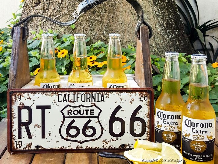 summertime and the living is easy repurposed license plate caddy