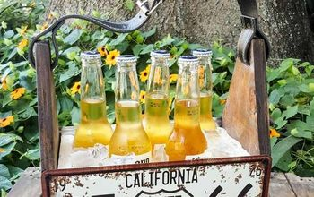 Summertime.....And The Living is Easy - Repurposed License Plate Caddy