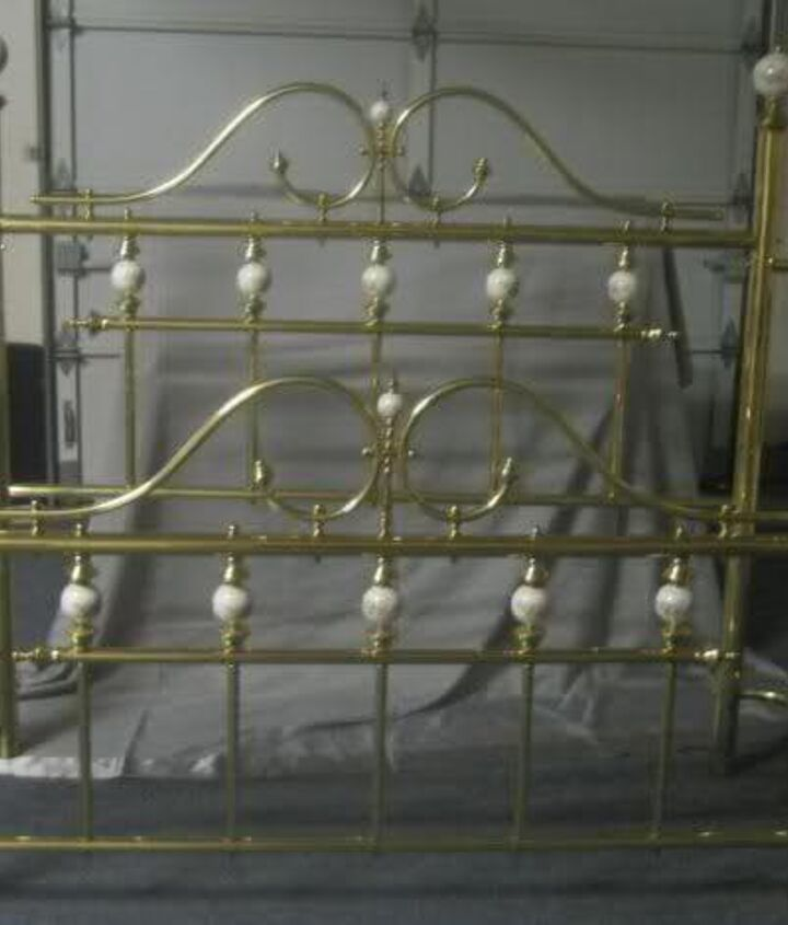q i would like to redo a brass bed but not sure how to go about it