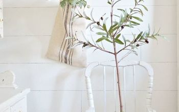 DIY Faux Olive Tree Topiary