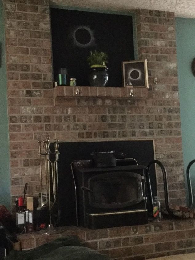 q what are some ideas for changing a 27 year old fireplace all brick