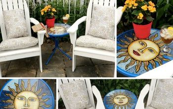 Stained Glass Patio Table for Under $25