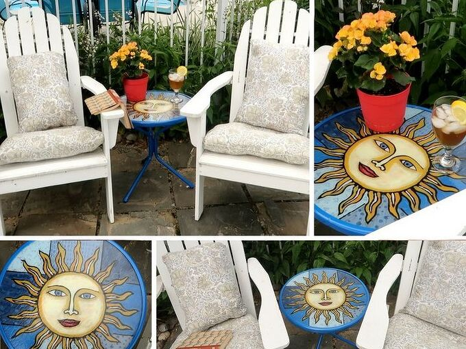 stained glass table for pennies