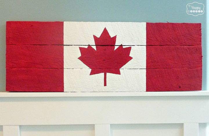 s everything red for canada day, Flag Pallet Tutorial