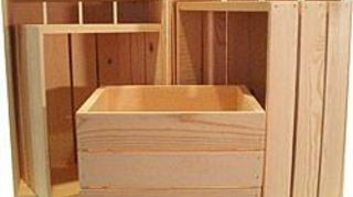 , Buy one with each pay check til you have what you need to make into shelving Paint a color or stain or as is