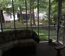 q i want to put something on my screened porch to give me privacy