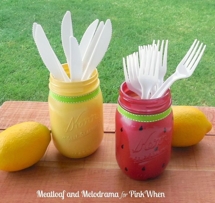 s these clever decor ideas are so perfect for summer, Fruity Mason Jars
