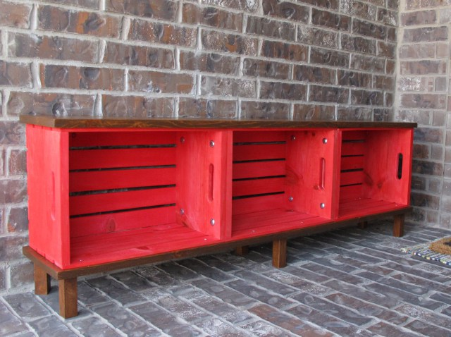 s 20 benches you can build this summer, Crate Bench