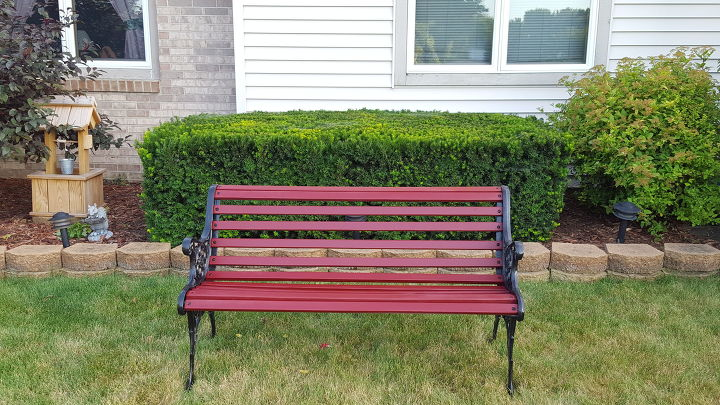 s 20 benches you can build this summer, Revived Park Bench