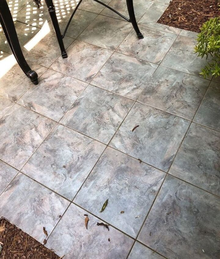 q what can i apply to my outdoor tiled terrace to make it less slippery