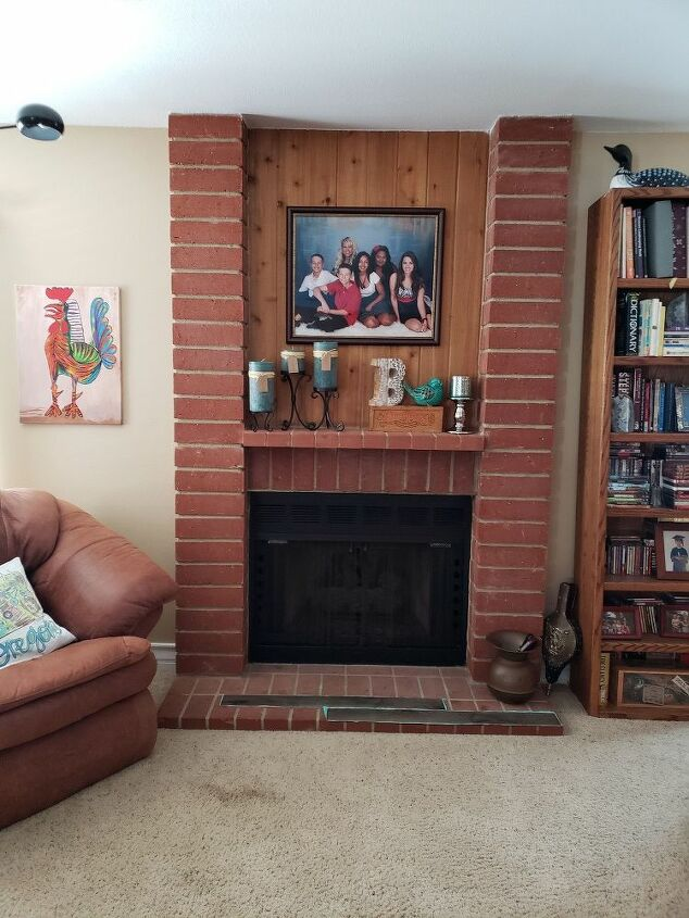 q i m looking for a budget friendly way to update this fireplace