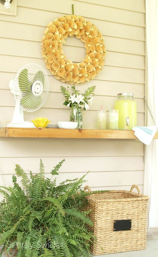 s instantly upgrade your living space with these amazing diy ideas, Create an outdoor reclaimed wood buffet