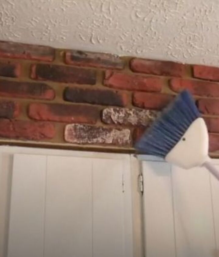 dear hometalk how can i brighten up my old dated brick wall