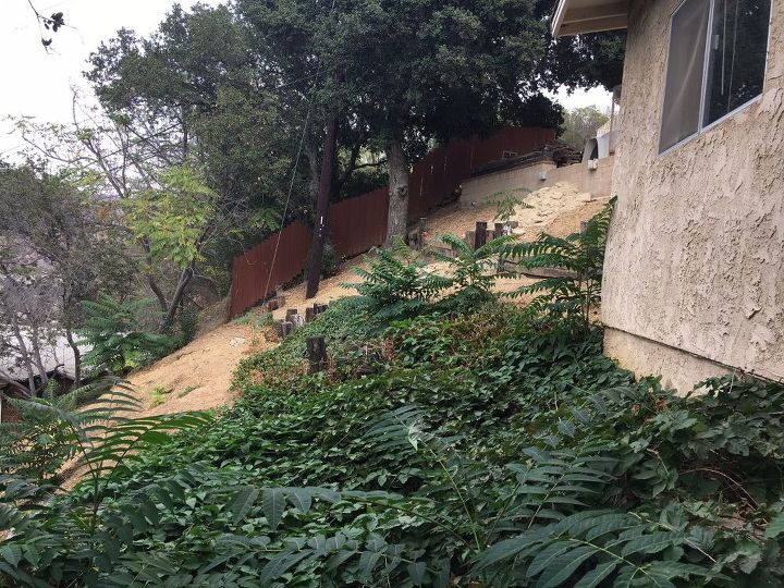 q what s the best way to itinerary a sloped backyard