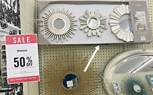 transform a cheap wall mirror into a gorgeous ceiling medallion