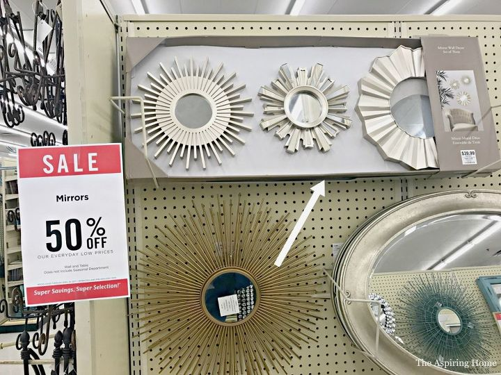 transform a cheap wall mirror into a gorgeous ceiling medallion