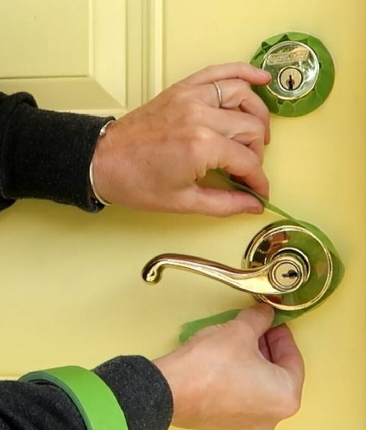 the proper way to paint and stencil a front door