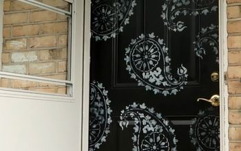 The Proper Way to Paint (and Stencil) a Front Door