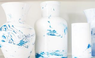 diy marbled vases