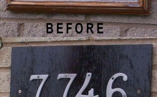 time to replace old address plaque