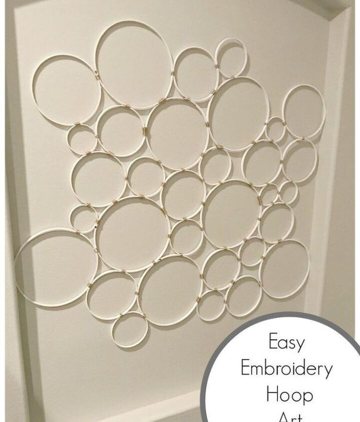 super easy diy embroidery hoop wall hanging