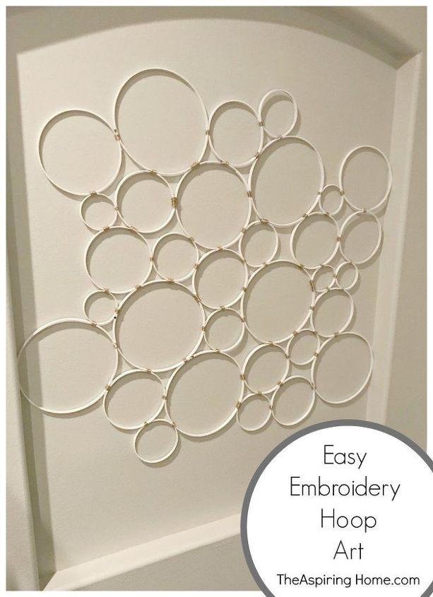 super easy diy embroidery hoop wall hanging