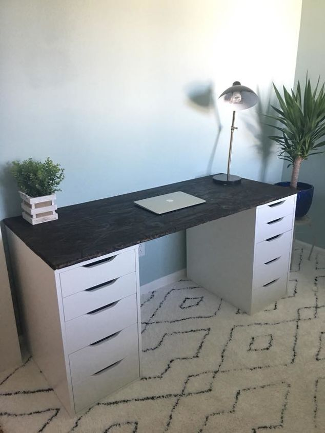 cheap live edge desk ikea hack